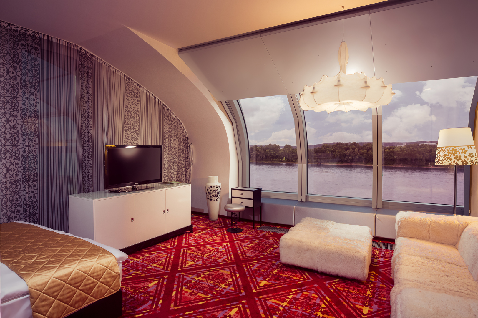 hotel am rhein corner suite kameha grand bonn. Black Bedroom Furniture Sets. Home Design Ideas